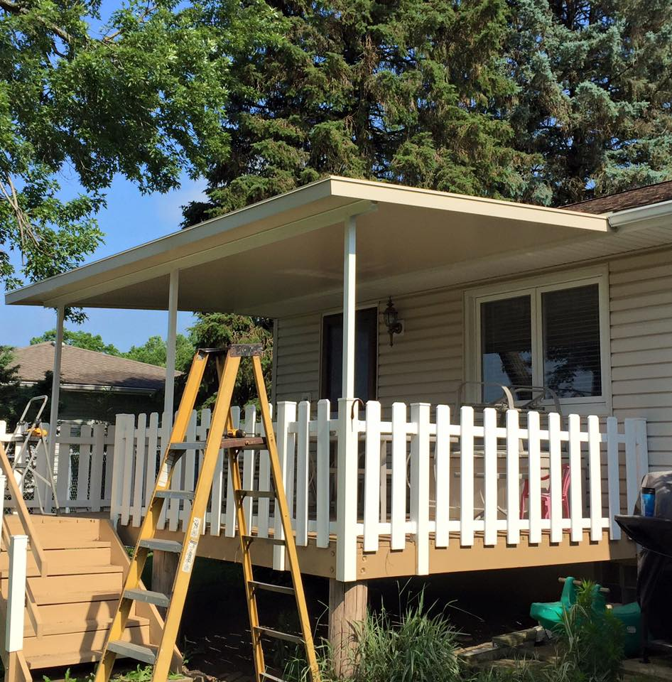 Akron Canton Awning Back Porch Install