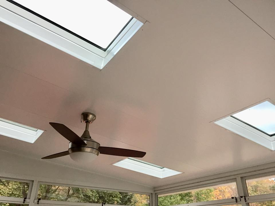 Akron Canton Awning Covering Skylights