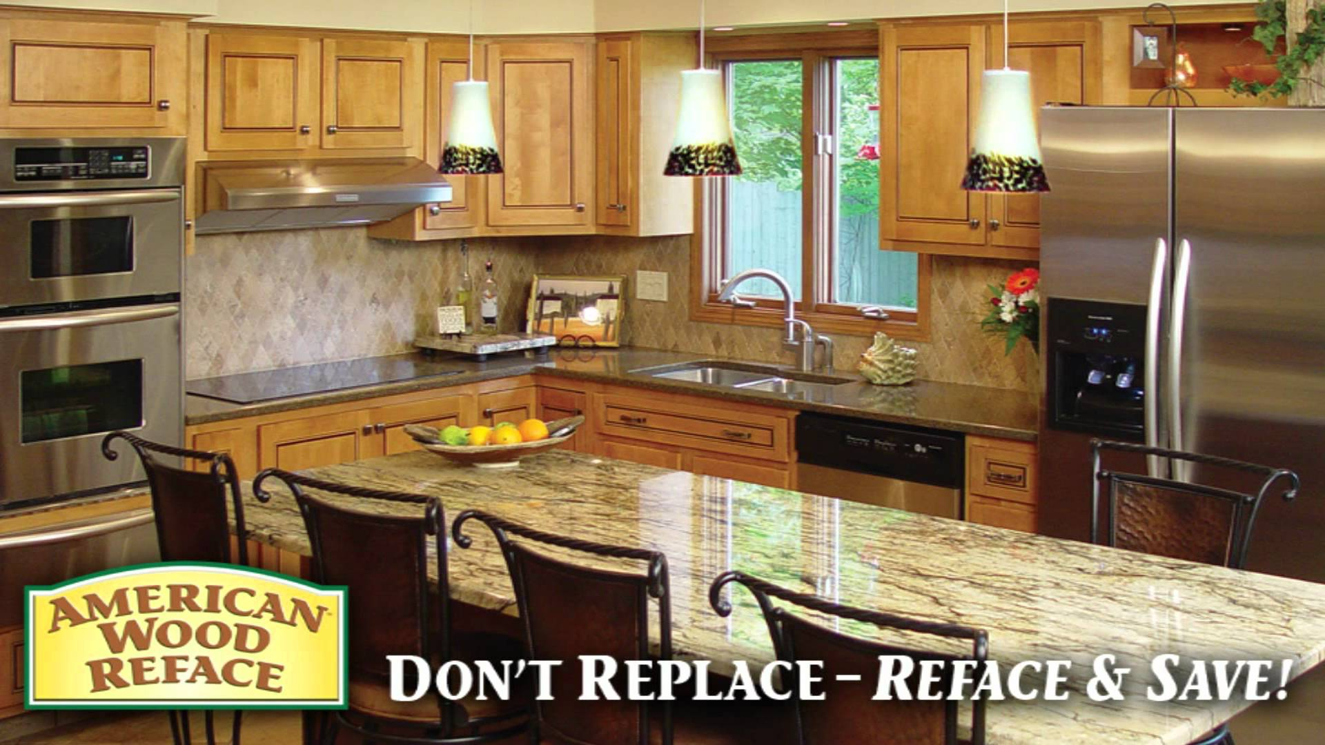 American Wood Reface Kitchen Cabinet Refacing