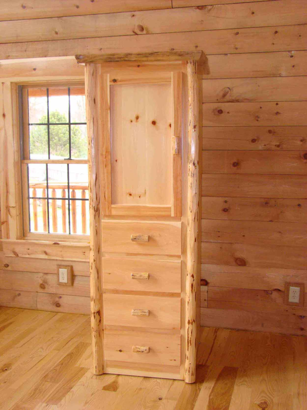 Capron Construction Company Furniture Log Dresser Rustic