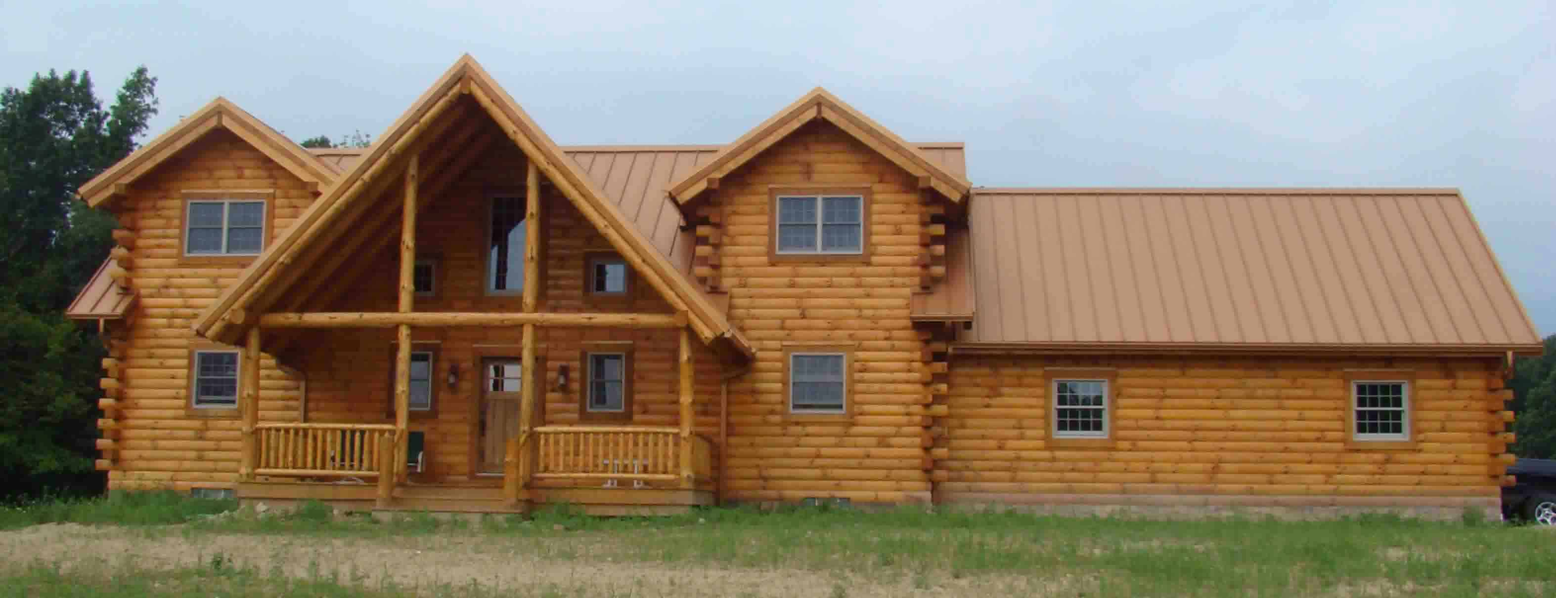 Capron Construction Company Log Home Steel Roof