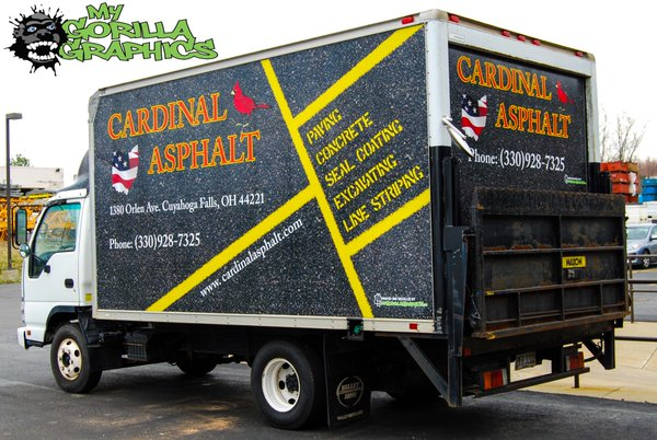 Cardinal Asphalt Company Project Truck