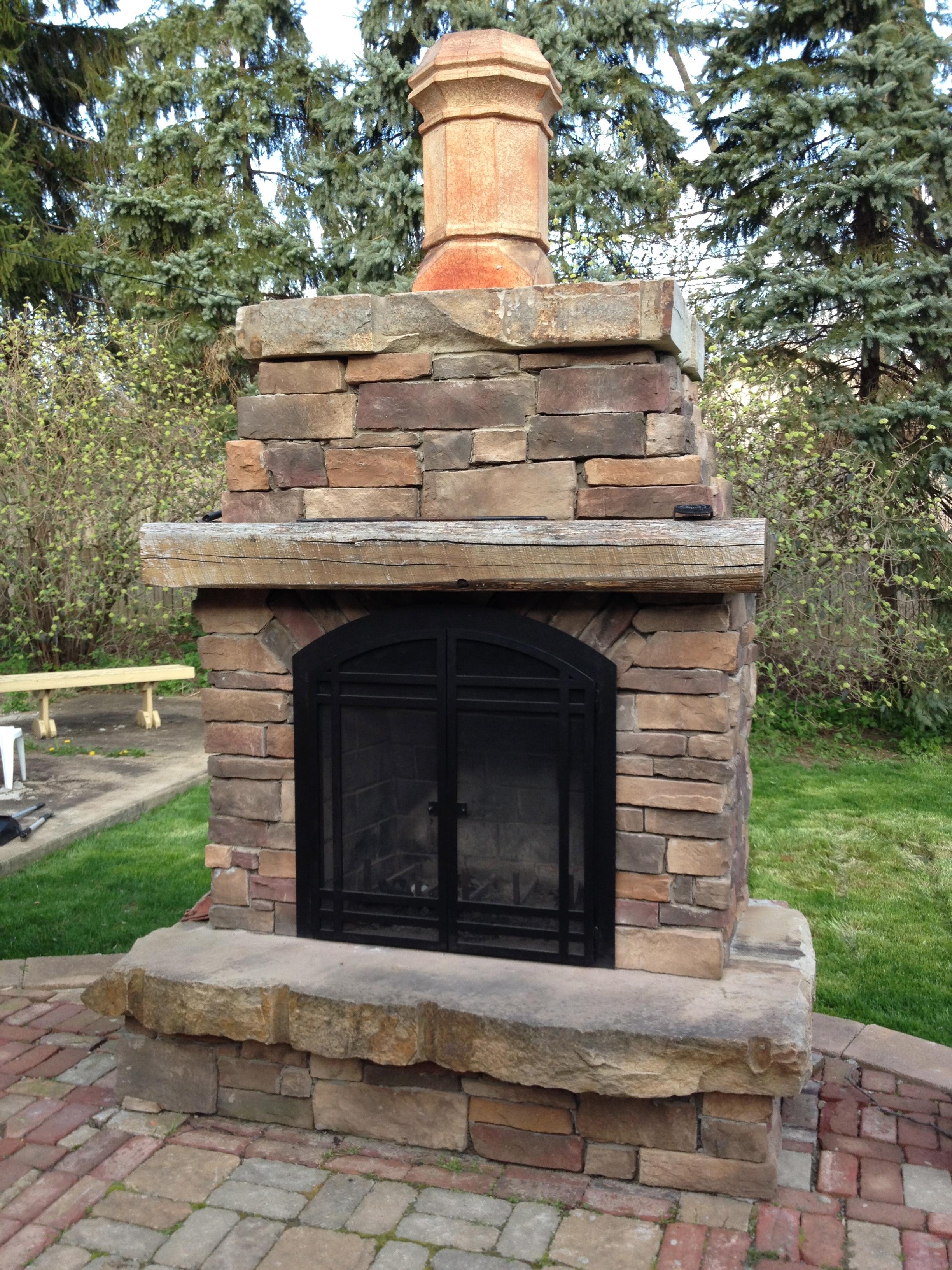 Custom Fireplace Shop Back Yard Fire Place