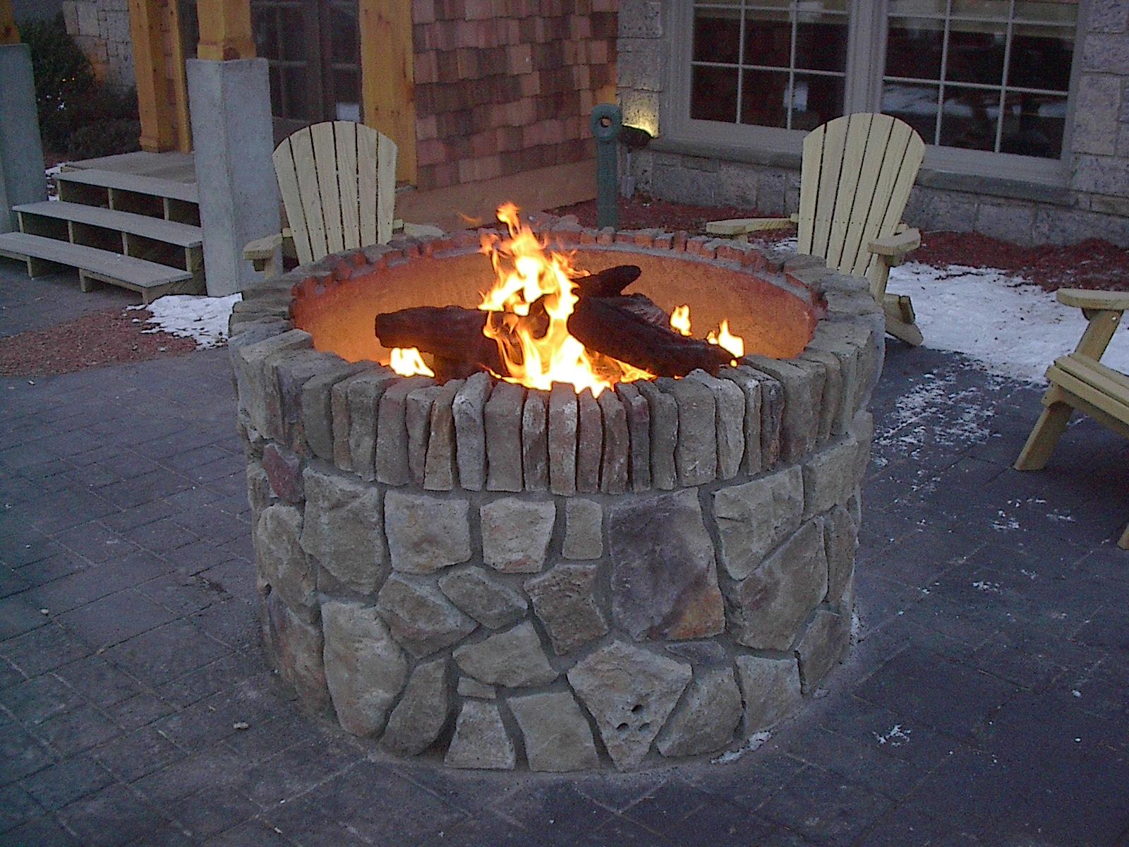 Custom Fireplace Shop Exterior Stone Fire Pit