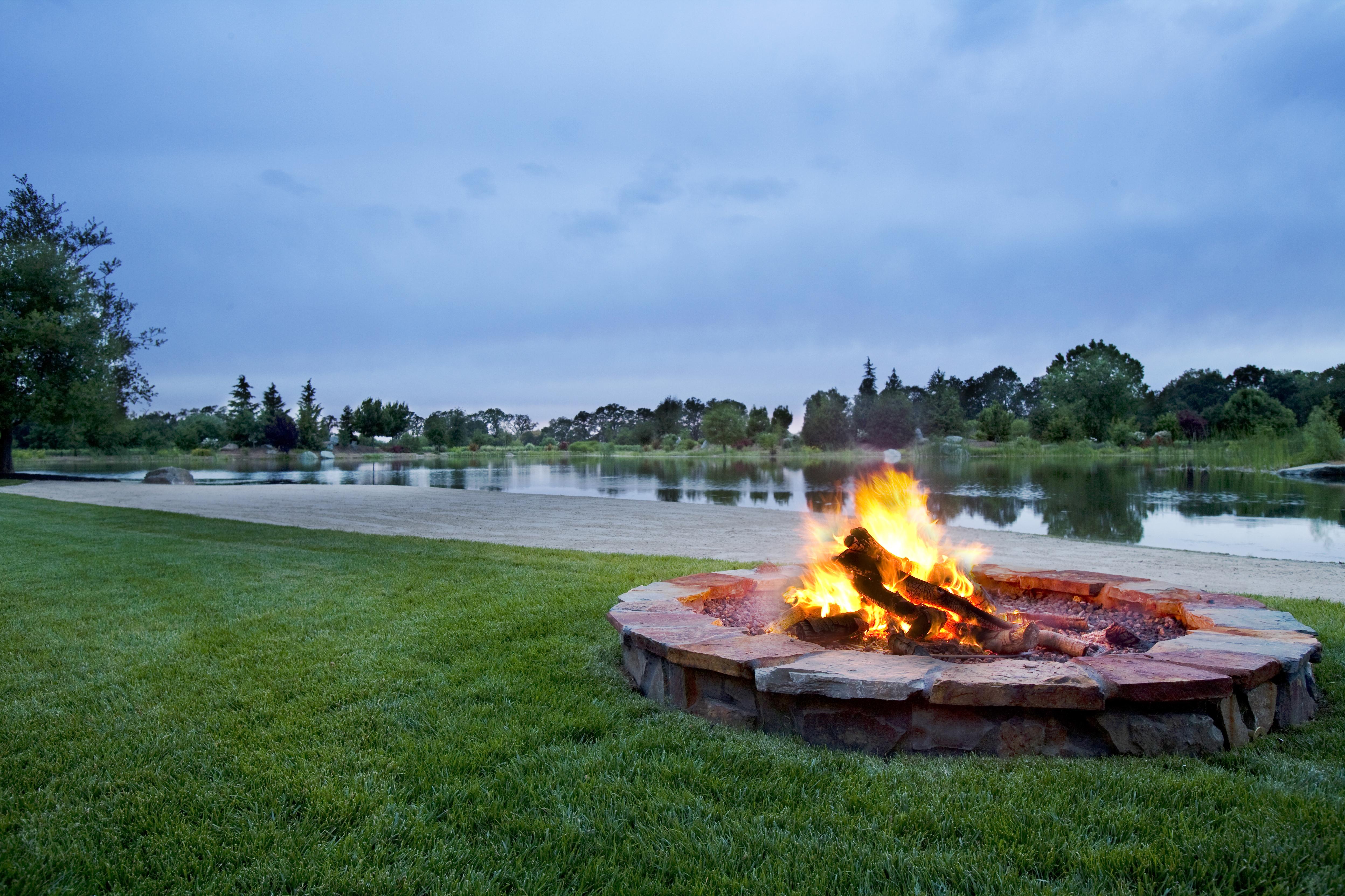 Custom Fireplace Shop Fire Pit Backyard