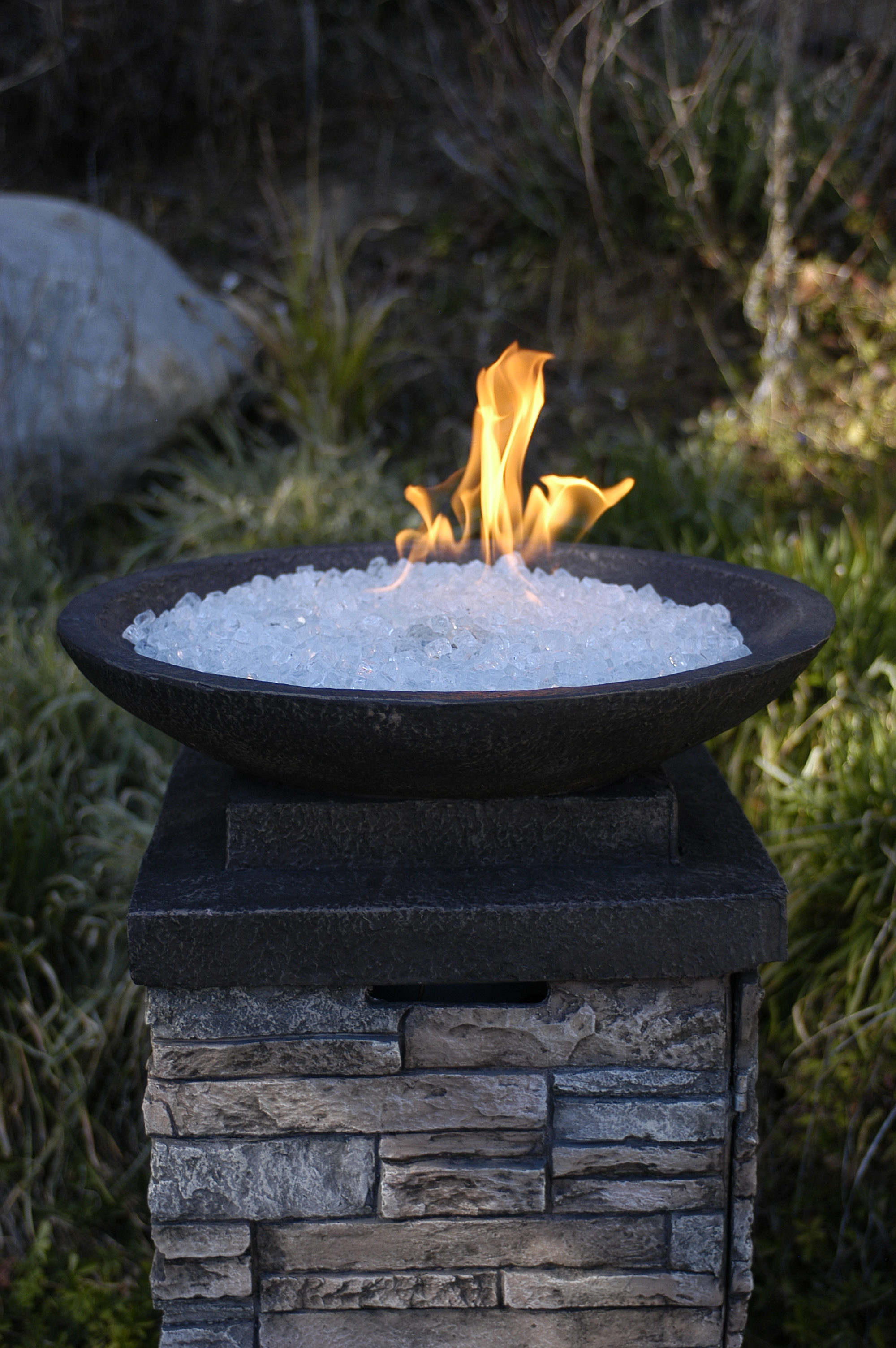 Custom Fireplace Shop Rock Fire Pit Gas