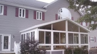 Energy Wise Home Improvement Sunroom Back Yard