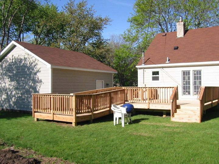 Energy Wise Home Improvement Wood Deck Back Yard