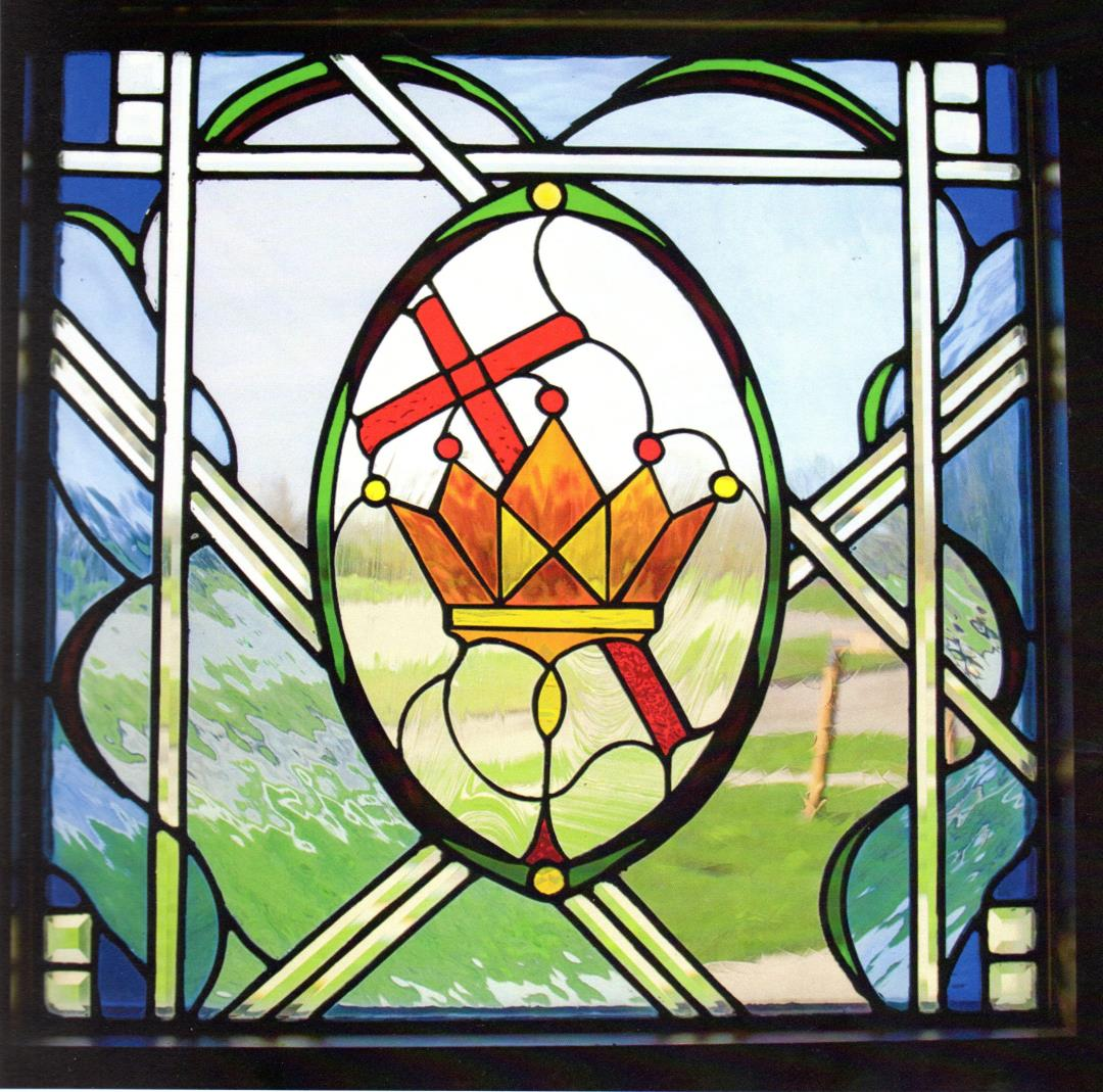 stained glass centre religious window